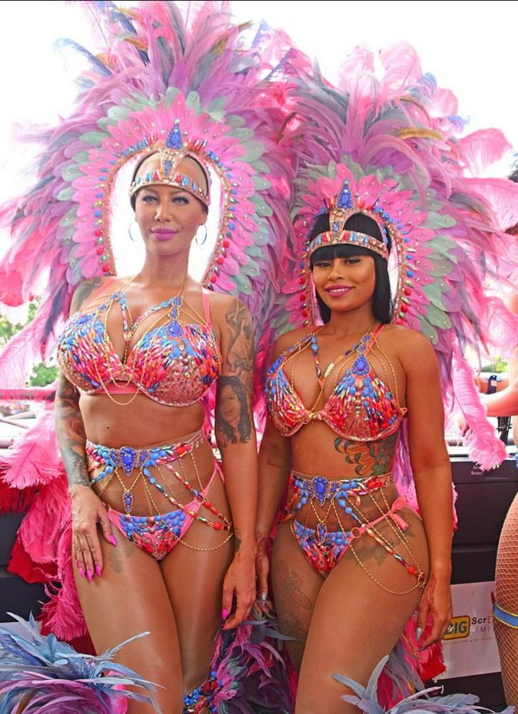 Blac Chyna and Amber Rose naughty carnival pics (3)
