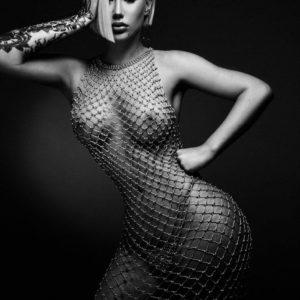 Iggy Azalea nude see through fishnet (1)