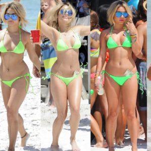 Vanessa Hudgens yellow bikini