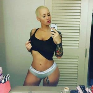 Amber Rose undressing