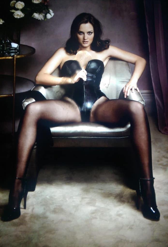 Leighton Meester sexy corset