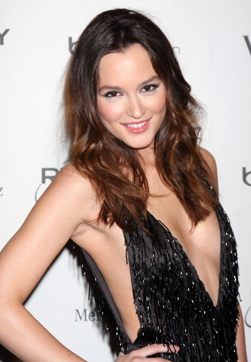 Leighton Meester Smiling For The Cameras