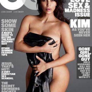 kim kardashian models nude for gq magazine