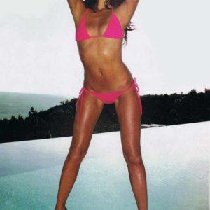 Olivia Munn hot pink bikini