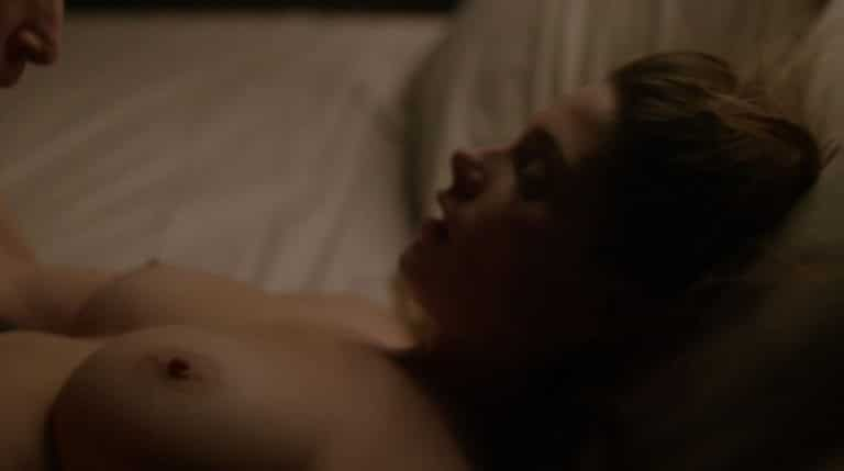brunette ashley greene's perfect titties exposed in a sex scene