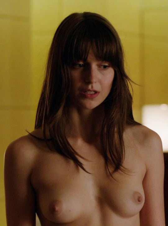 Celeb Melissa Benoist nude tits in tv series