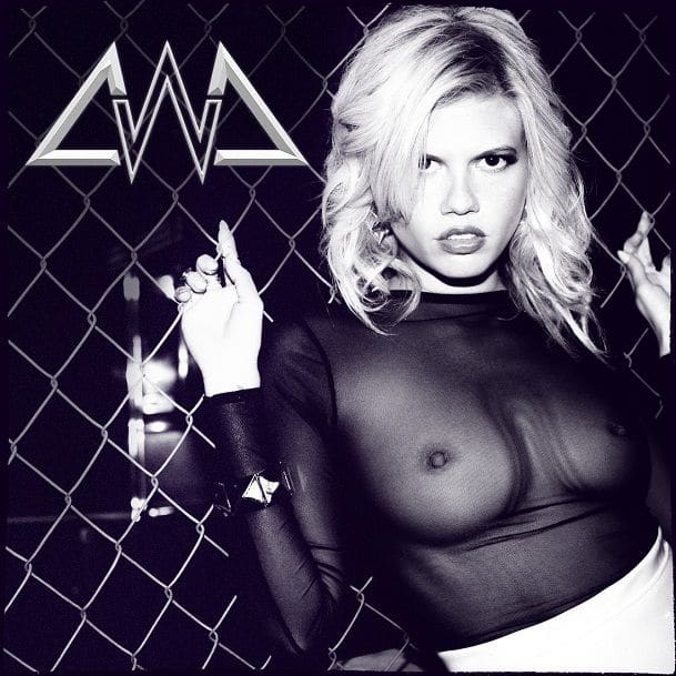 sexy see through black mesh top on chanel west coast showing her nipples
