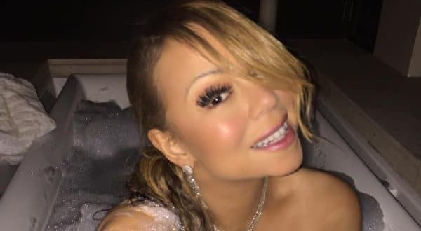 Mariah Carey naked in bathtub