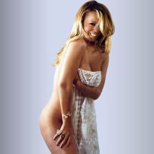 totally naked mariah carey with sheet around her curvy body