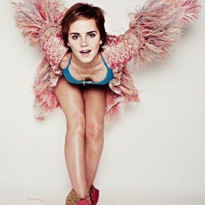 Emma Watson cleavage pic
