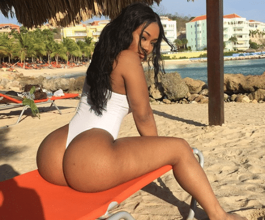 celebrity lira galore showing off her big ass cheeks on the beach