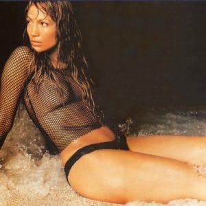 Jennifer Lopez see through mesh shirt showing her nipples