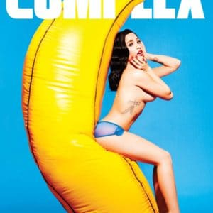 Topless in Complex Magazine photo cover