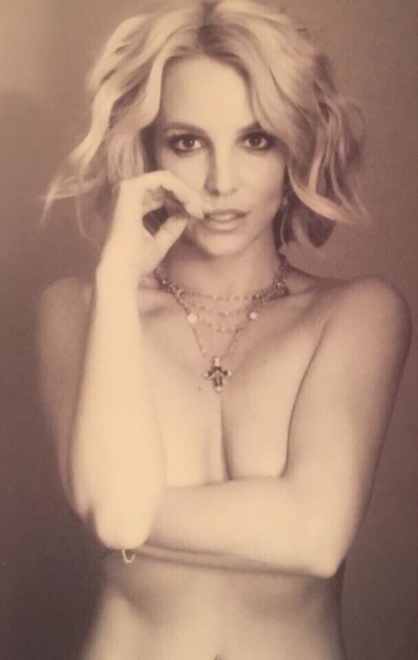 Britney Spears modeling topless