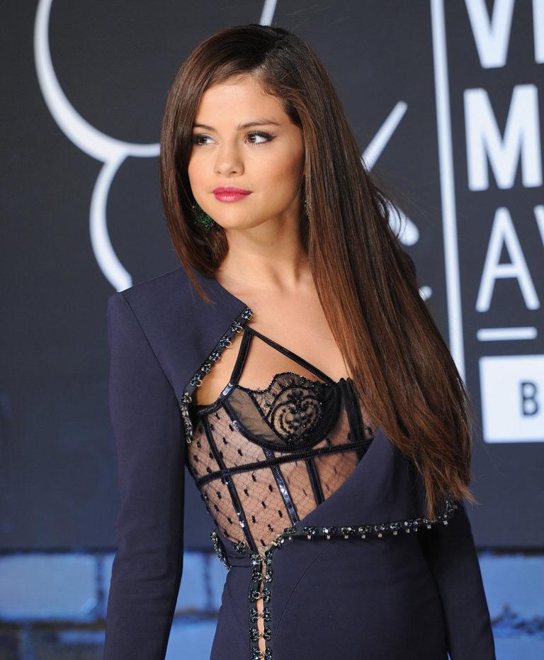 Selena Gomez sexy see through top