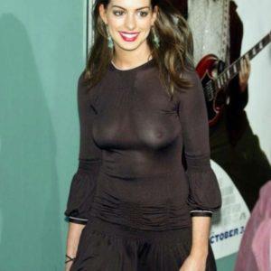 Anne Hathaway boobs show