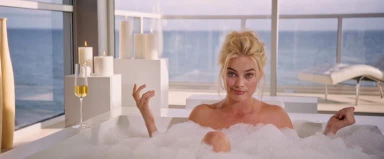 Margot Robbie bubble bath