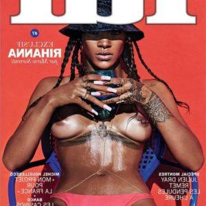 Rihanna boobs show