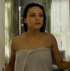 Mila Kunis naked shower