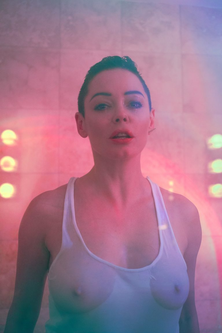 Rose McGowan see through top