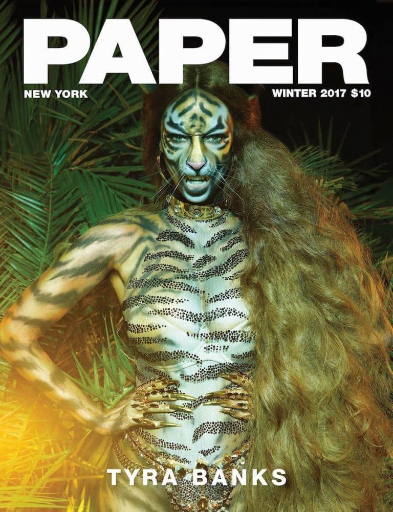 Tyra Banks Paper Magazine