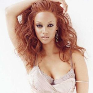Tyra Banks hard nipples