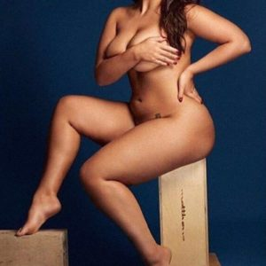 Ashley Graham posing naked