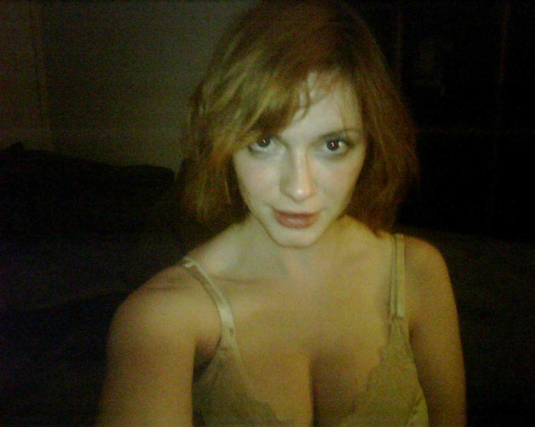 Christina Hendricks hard nipples