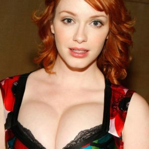 Christina Hendricks showing boobs