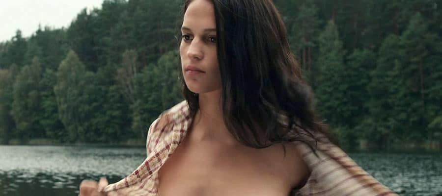 Alicia Vikander undressing