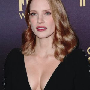 Jessica Chastain deep cleavage