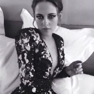 Kristen Stewart model black and white