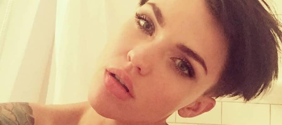 Ruby Rose topless selfie pic