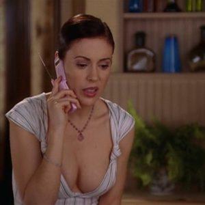 Alyssa Milano nude boobs